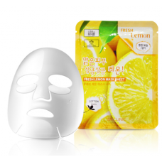 [3W CLINIC] Тканевая маска для лица ЛИМОН Fresh Lemon Mask Sheet